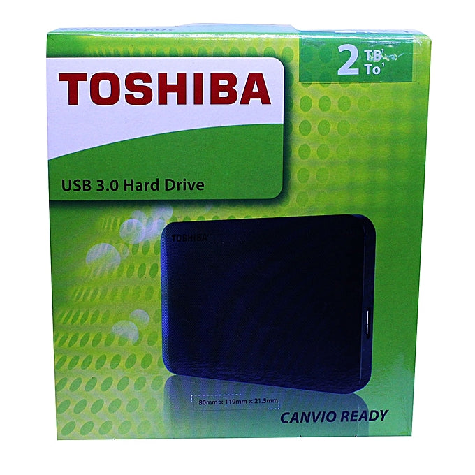Toshiba External Hard Disks 2TB - Black