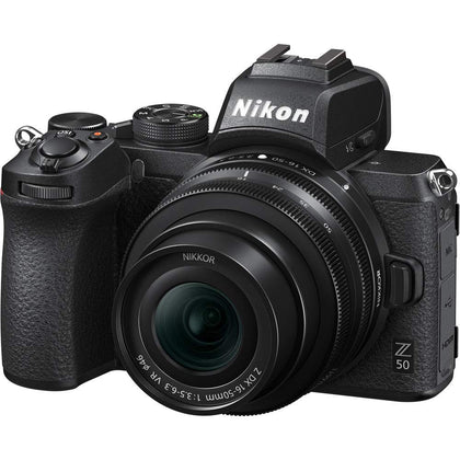 Nikon Z50 with 16-50mm Lens Mirrorless Digital Camera - Black
