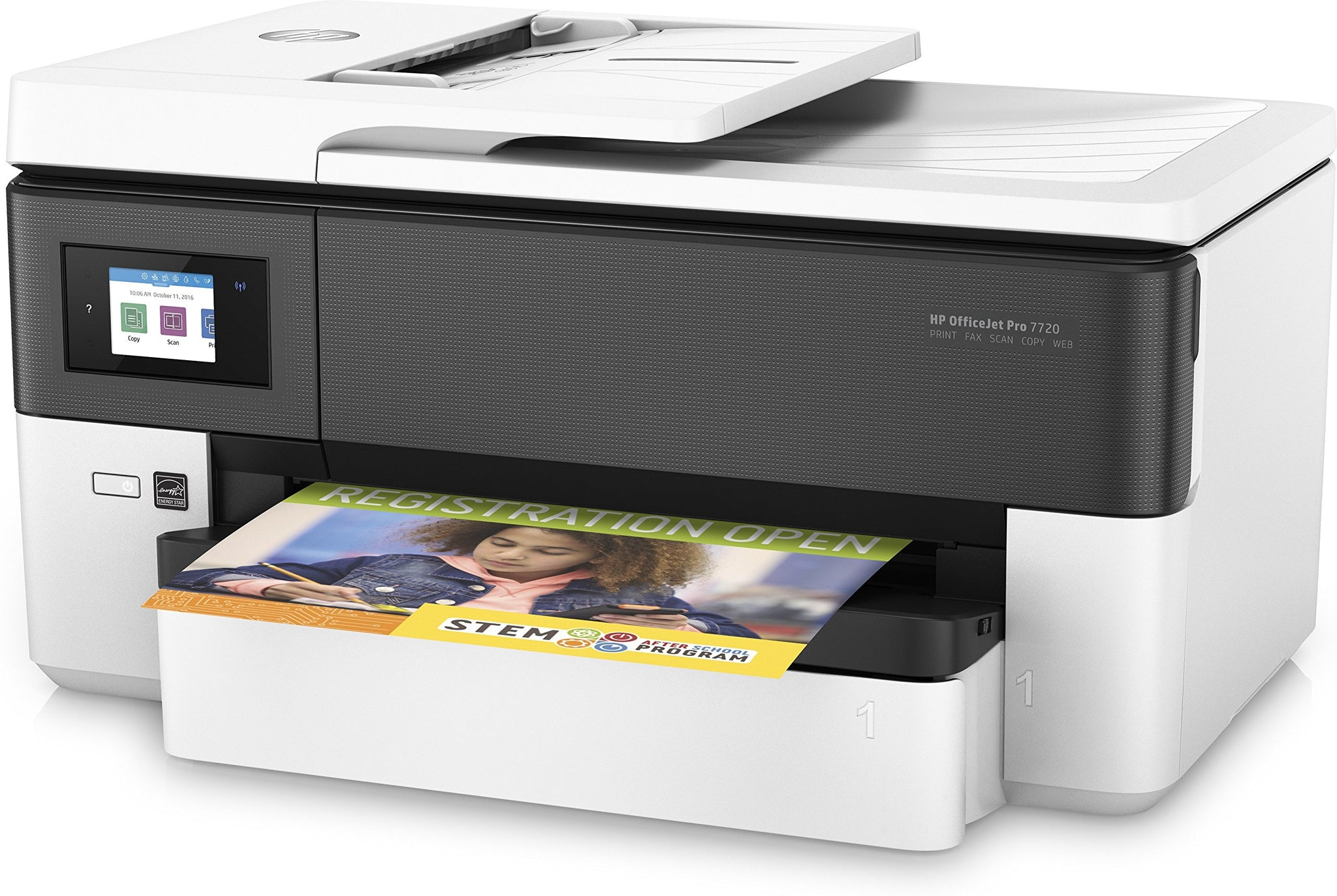 HP 7720 OfficeJet Pro Wide Format Wireless/Print/Scan/Copy/Fax All-in-One Printer- White - laptop world uganda