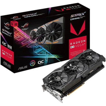 ASUS Republic of Gamers ROG STRIX AMD Radeon RX VEGA56 8GB OC Edition VR Ready RGB Graphic Card