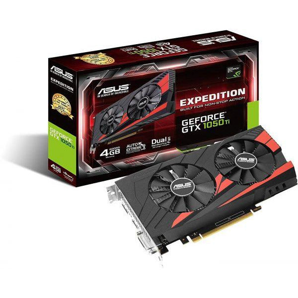 Asus NVIDIA GeForce GTX 1050TI EX-GTX1050TI-4G 4 GB GDDR5 128 Bit Memory HDMI/DP/DVI PCI Express 3 Graphics Card
