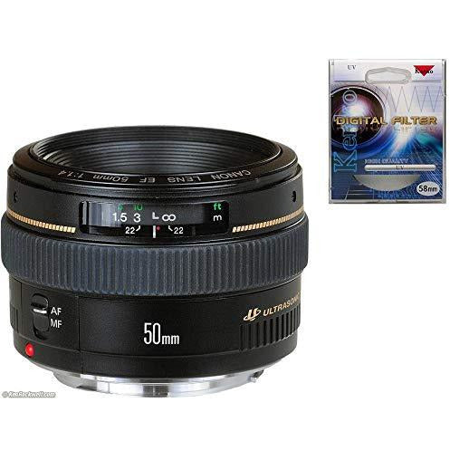 Canon 50mm 1.4 USM Lens With UV Filter