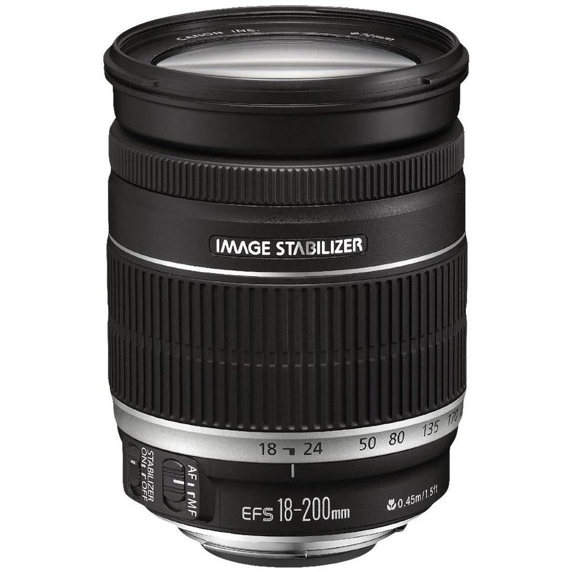 Canon EF-S 18-200mm f/3.5-5.6 IS Standard Zoom Lens for Canon DSLR Cameras - Grey Market non US Lens