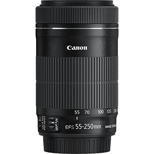 Canon EF-S 55-250 mm F/4-5.6 Telephoto Zoom Lens