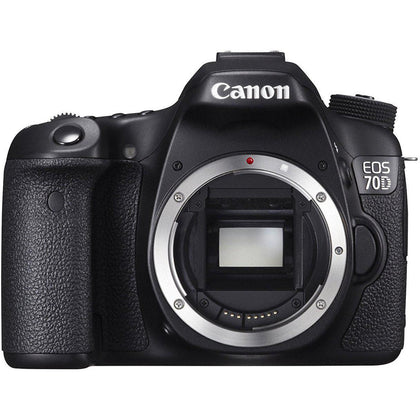 Canon EOS 70D (8469B002) Digital SLR Cameras Black 20.2 MP Digital SLR Camera - Body Only