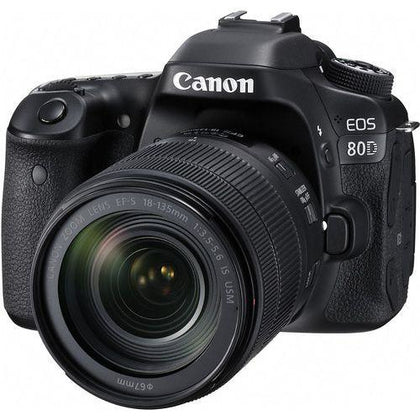 Canon EOS 80D Lens Kit - 24.2 MP, SLR Camera, 18 - 55mm IS USM, Black (Ready Stock)