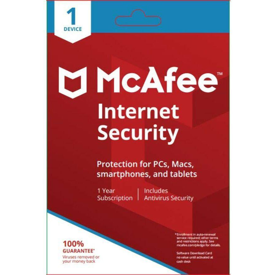 McAfee Internet Security 1 User ( Pc, Mac, Smartphone or Tablet)