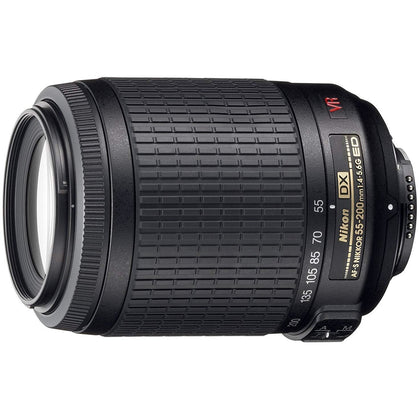 Nikon 55-200mm f/4-5.6G ED IF AF-S DX VR [Vibration Reduction] Nikkor Zoom Lens Bulk packaging (White box, New)