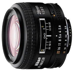 Nikon AF FX NIKKOR 28mm f/2.8D Lens with for Nikon DSLR Cameras