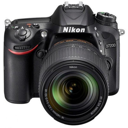 Nikon D7200 - 24.4 MP, SLR Camera, Black, 18 - 140mm Lens Kit