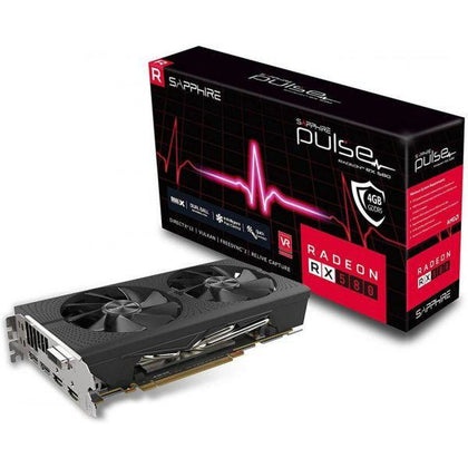Sapphire 11265-05-20G Radeon PULSE RX 580 8GB GDDR5 DUAL HDMI / DVI-D / DUAL DP OC with backplate (UEFI) PCI-E Graphics Card