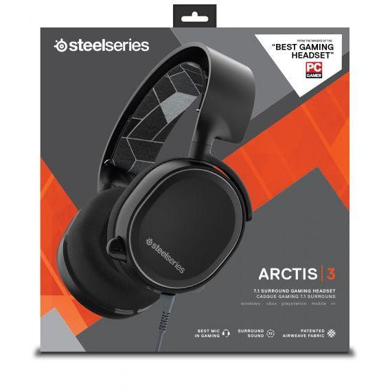 SteelSeries Arctis 3 All-Platform Gaming Headset for PC, PlayStation 4, Xbox One, Nintendo Switch, VR, Android and iOS - Solar Red