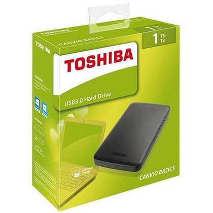 Toshiba External Hard Disks 1TB - Black