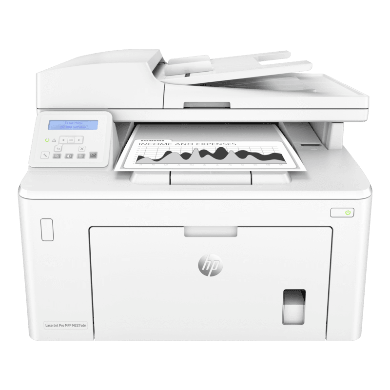 HP LaserJet Pro MFP M227sdn (Print, Scan, Copy, Fax, Duplex, Network) , A4,MFP, Black and White