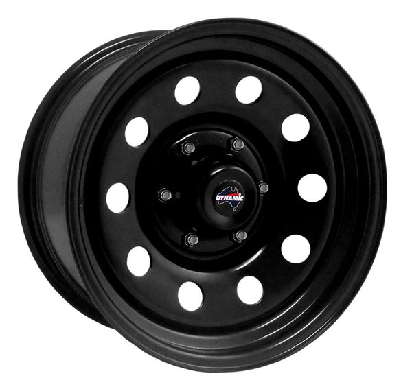 "DYNAMIC WHEEL CO. Round Hole Black Steel Wheel *15x7"" ET3"