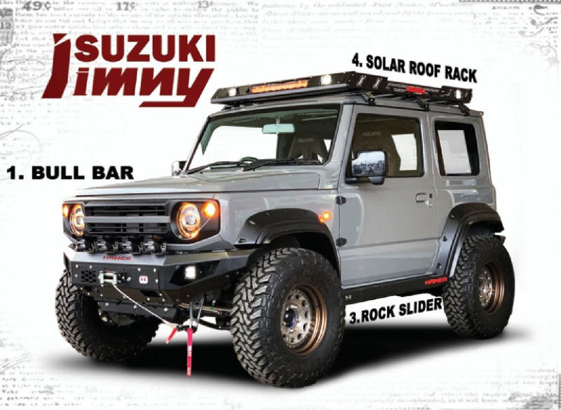 HAMER 4x4 Rear Bar Including Tow Hitch - (Jimny Year - 2018+)
