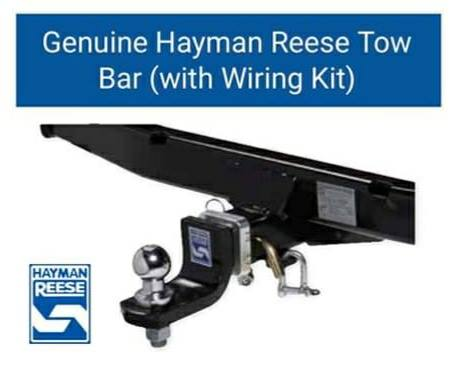 HAYMAN REESE Heavy Duty Tow Bar Complete Kit  - Includes ECU Wiring Box Kit & 7 Pin Smartclick Flat Plug 400mm (Jimny Year - 2018+)