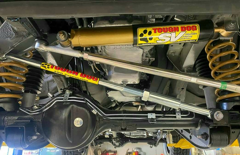 TOUGH DOG 4WD SUSPENSION SV 9 Stage Adjustable Steering Damper (Jimny Year - 10/1998-2005)