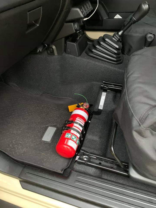 KAP INDUSTRIES Fire Extinguisher/Maglite Bracket *Passanger Side Fitment (Jimny Year - 2018+)