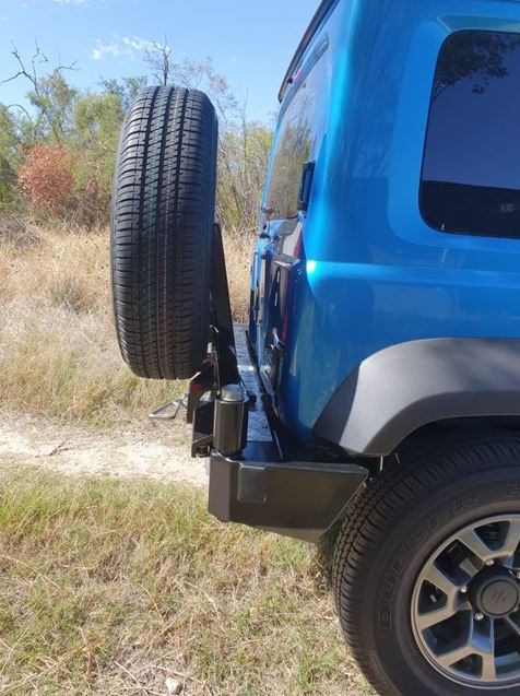OUTBACK ACCESSORIES AUSTRALIA Swing Away Wheel Carrier - Rear Bar Only Configuration (Jimny Year - 2018+)