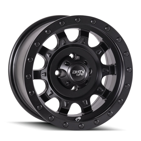 "DIRTY LIFE Roadkill 9301 Matte Black with Beadlock Alloy Wheel *15x7"" ET3"