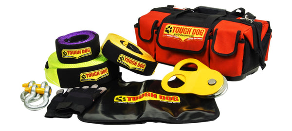 TOUGH DOG 4WD SUSPENSION Recovery Kit with 8T/9M Snatch Strap