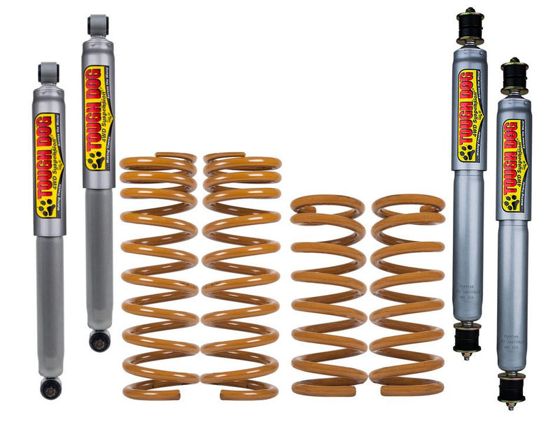 TOUGH DOG 4WD SUSPENSION 80mm Suspension Lift Kit - No Steel Bullbar, with Alloy Bar (Jimny Year - 2005+)