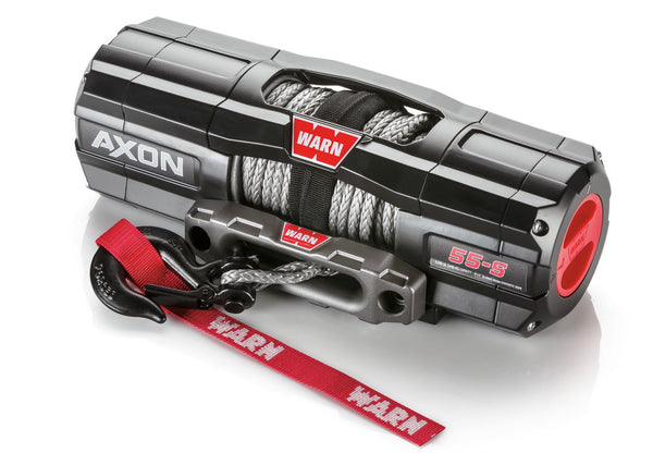 WARN AXON 55-S 5,500lbs Winch - 15m Synthetic Rope *Only 14kgs in Weight!