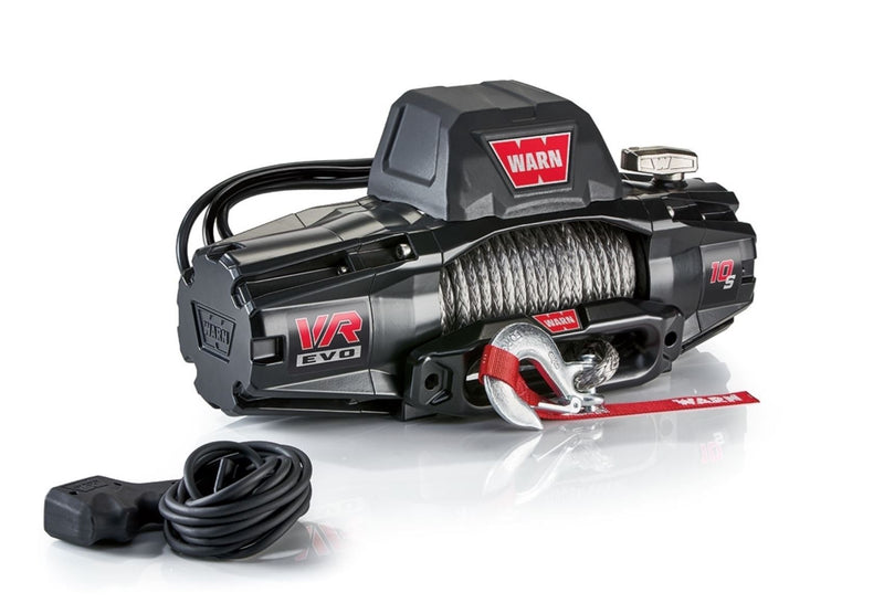 WARN VR EVO 10-S 10,000 lbs Winch - 27m Synthetic Rope with 2 in 1 Wireless Remote