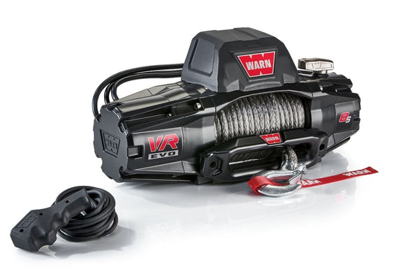 WARN VR EVO 8-S 8,000 lbs Winch - 27m Synthetic Rope with 2 in 1 Wireless Remote