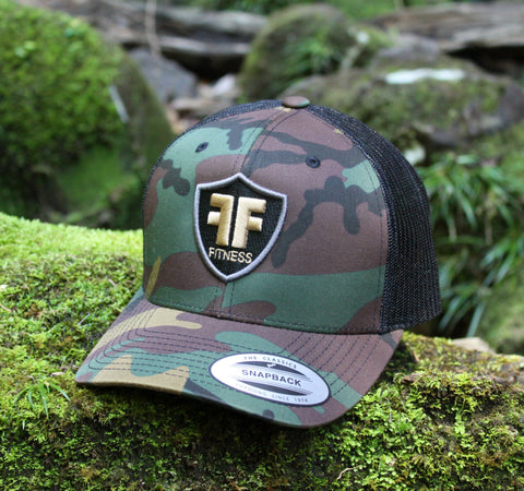 Camo Genuine Flexfit Trucker by Fire Fury Fitness