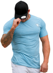 Dri Fit Gym Wear Workout Shirt - Ice Blue - Lightweight training shirt