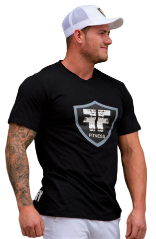 Black Logo Soft Cotton Gym T-shirt Workout Shirt - Fire Your Fury