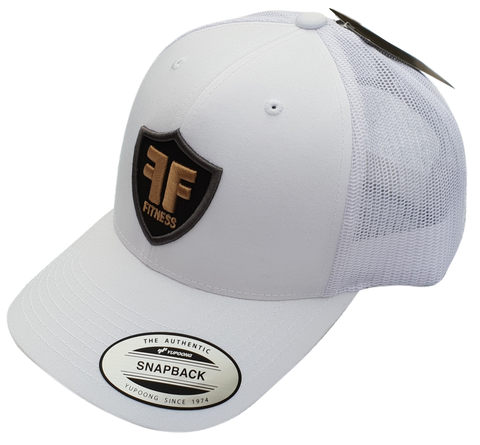 Genuine Yupoong Classics Trucker Cap Hat - Snapback - Gold White