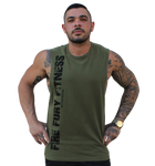 Khaki Military Green FF FITNESS Gym Muscle Tank - Fire Your Fury