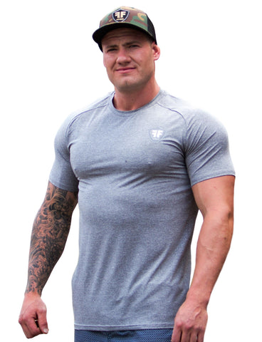 Dri Fit Gym Wear Workout Shirt - Titanium Grey - Lightweight Training Shirt
