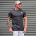 Dri Fit Gym Wear Workout Shirt - Lead Grey - Lightweight Training Shirt