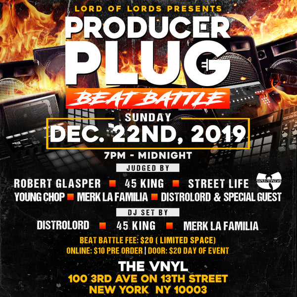 PRODUCER PLUG (BEAT BATTLE) SUNDAY DEC 22ND, 2019