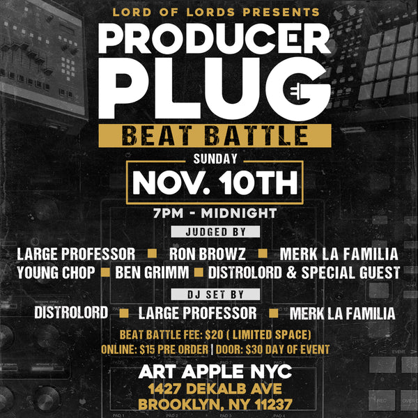 PRODUCER PLUG ( BEAT BATTLE) SUNDAY NOV 10TH, 2019