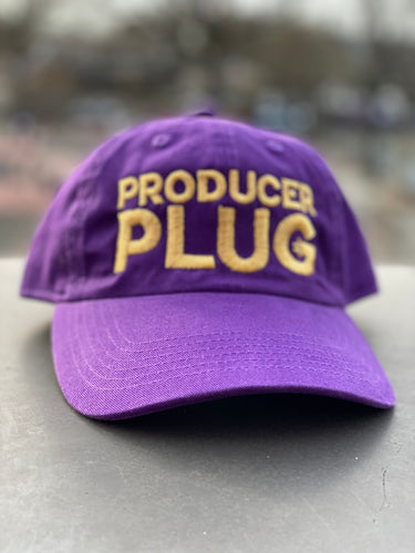 PRODUCER PLUG PURPLE DAD HAT (GOLD TEXT)