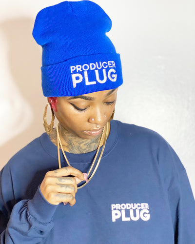 "Producer Plug "" BLUE "" SKULLY ( White Text)"