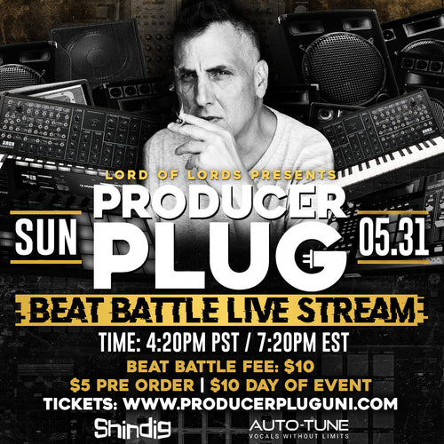 PRODUCER PLUG BEAT BATTLE LIVE STREAM W MIKE DEAN MWA MAY 31ST, 2020