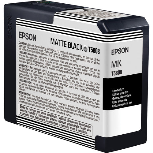 Epson UltraChrome K3 Matte Black Ink Cartridge (80 ml) - Image Pro International