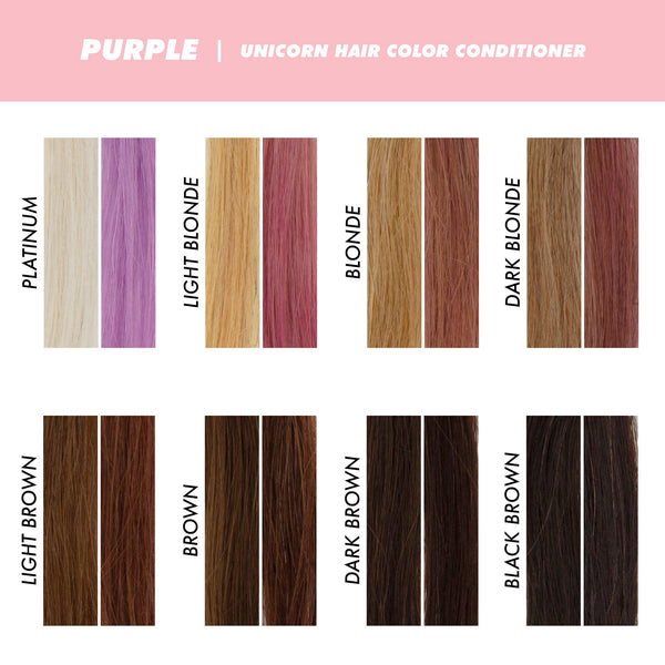 Swatches of Purple Unicorn Hair Conditioner