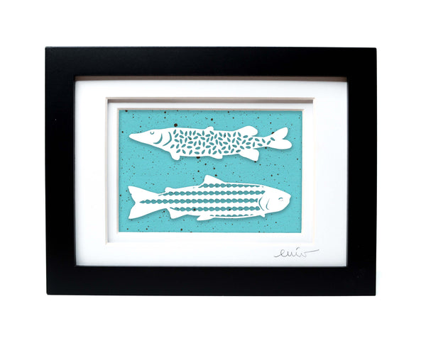 Two Fish Papercut