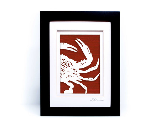 Blue Crab Papercut