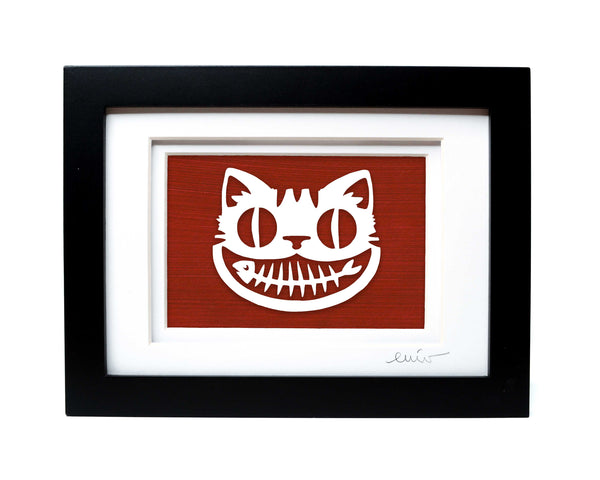 Cat Grin Papercut