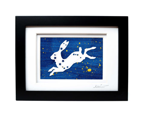 Hare Constellation Papercut