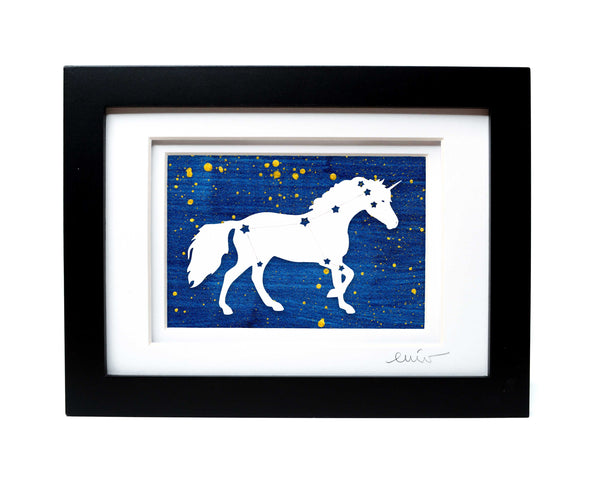 Unicorn Constellation Papercut