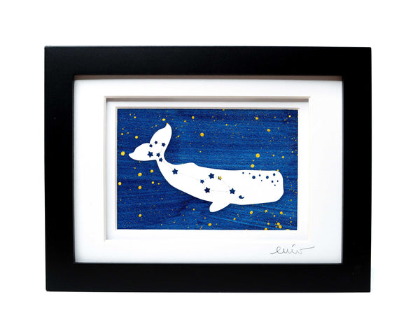 Whale Constellation Papercut